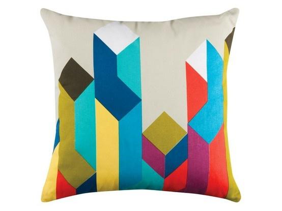 colourful geometric cushion design