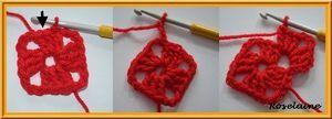 Tuto granny rouge: comment faire un carré au crochet?