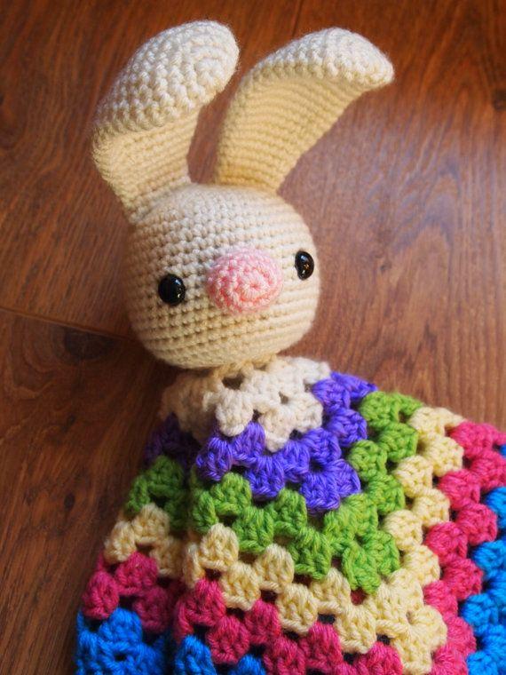 Baby Bunny Rabbit Crochet Security Blanket