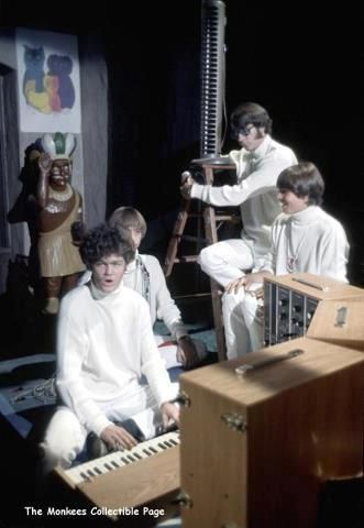 """""""Psychedelic""""... 'Daily Nightly' - The Monkees. Micky Dolenz, Peter Tork, Michael Nesmith, Davy Jones."""