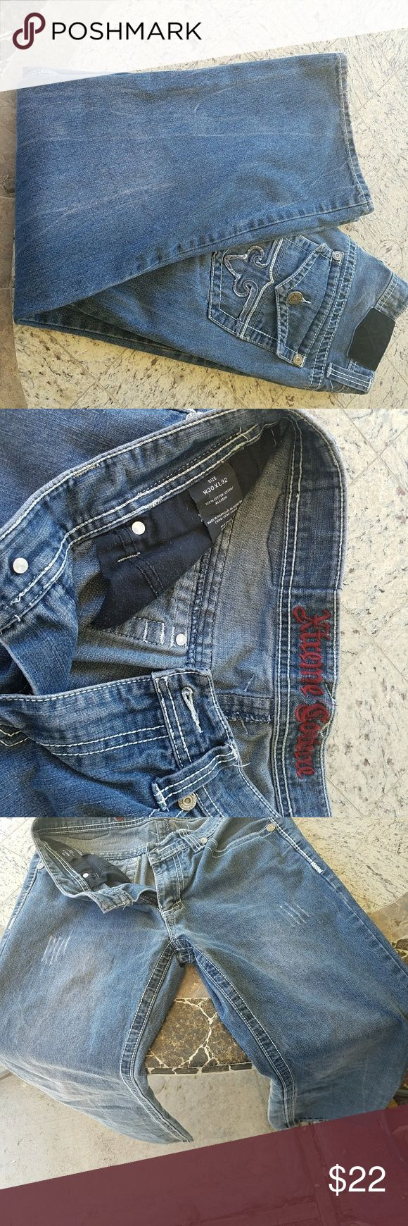 Xtreme Couture jeans for men Size 30 extreme Contour jeans for men 32 inseam like new good-looking jeans extreme Contour Jeans Bootcut