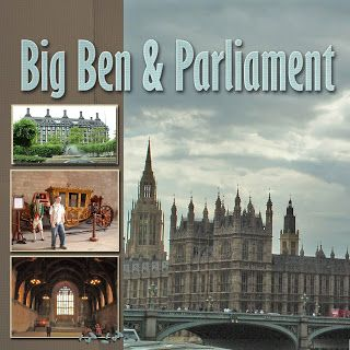 Recent Scrapbook Pages: London - Big Ben