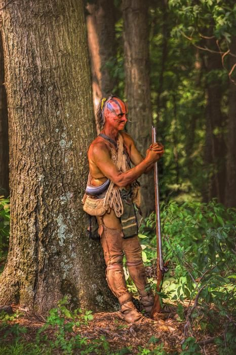 Native warrior from the American Eastern Woodlands