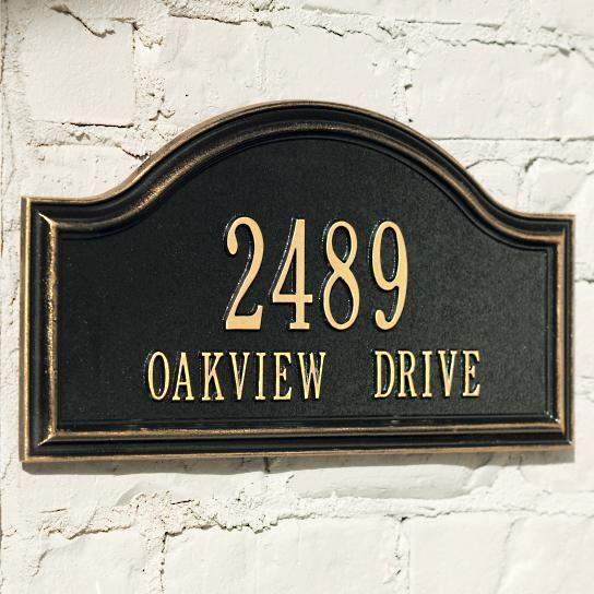 Oakview Address Plaque
