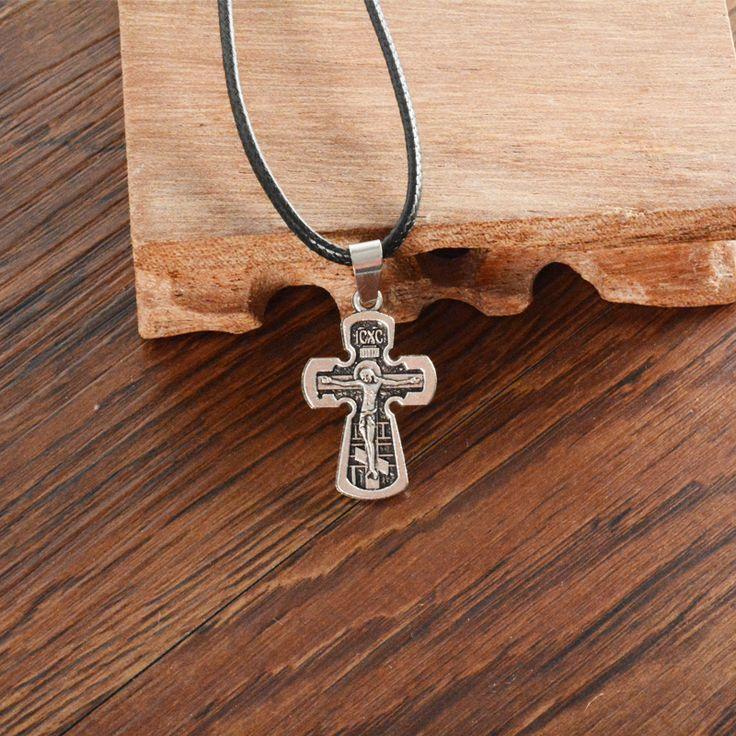 Gold/silber Überzogene Orthodoxe Christentum/orthodoxe Kirche Ewige Kirche Kreuz Anhänger Halskette Schmuck Russland/griechenland/ukraine