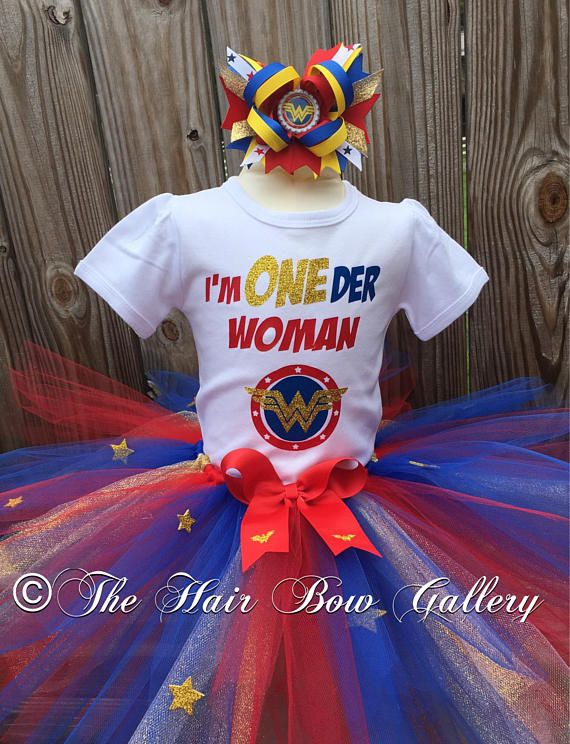 e21cf2a36 Oneder Woman Birthday Outfit - Wonder Woman inspired Tutu Outfit - First  Birthday- First Birthday Outfit- Oneder Shirt