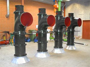 Vertical standard propeller pumps from Lykkegaard A/S for low head freshwater applications.