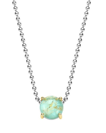 Ti Sento 3761 Dusted Aqua Gold 16.5 In. Necklace Available at: www.always-forever.com