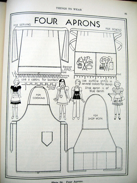 Childs Apron patterns 1946