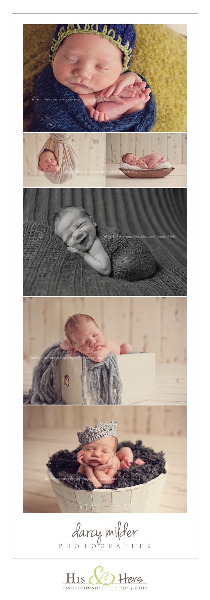Iowa newborn photographer, Darcy Milder | His & Hers