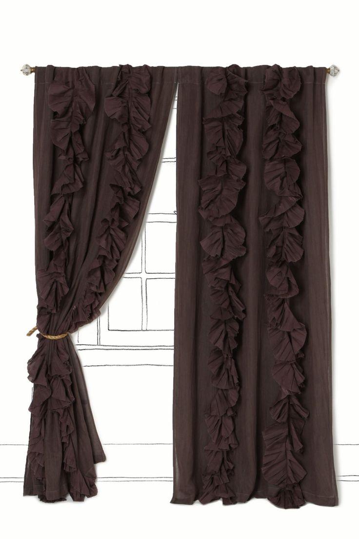make curtains using twin sheets - love the ruffles