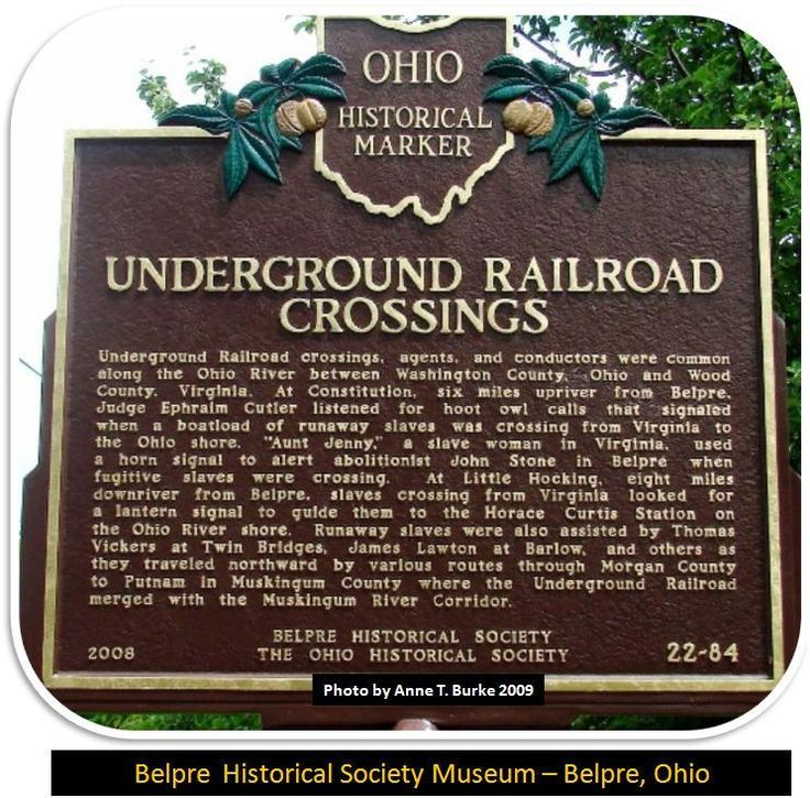 Not many people know this, but there are over five hundred documented Underground Railroad sites in the state of Ohio. and an Underground Railroad Museum in Cincinnati
