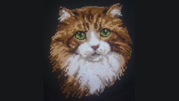 """Схема для вышивки крестом: """"Рыжий кот"""""""