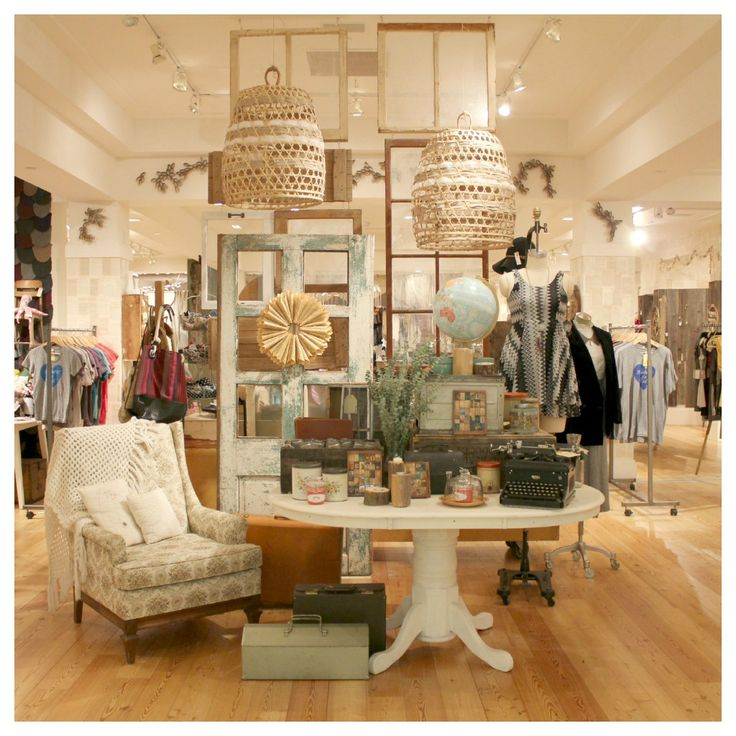 """The impression I get from this display is """"comfortable"""".  I think it's a combination of the chair and the color palette that invokes that feeling.  Visual Merchandising inspiration at The Foundrie -- St. Louis."""