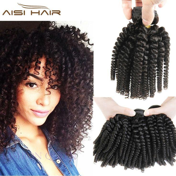 3 Regroupe Offres Afro Crépus Bouclés Cheveux Spiral Curl Weave Humain cheveux Péruvien Vierge Cheveux Bouclés Vague Tante Funmi Boucles Bondissantes Fumi