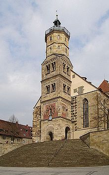 St. Michael's Church, Schwaebisch Hall, Germany.  Wonderful town, my home from 1982 to 1985.