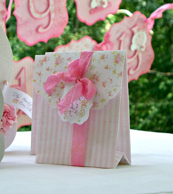Princess Favor Bags Shabby Chic Birthday Party by MyBellaPaperie