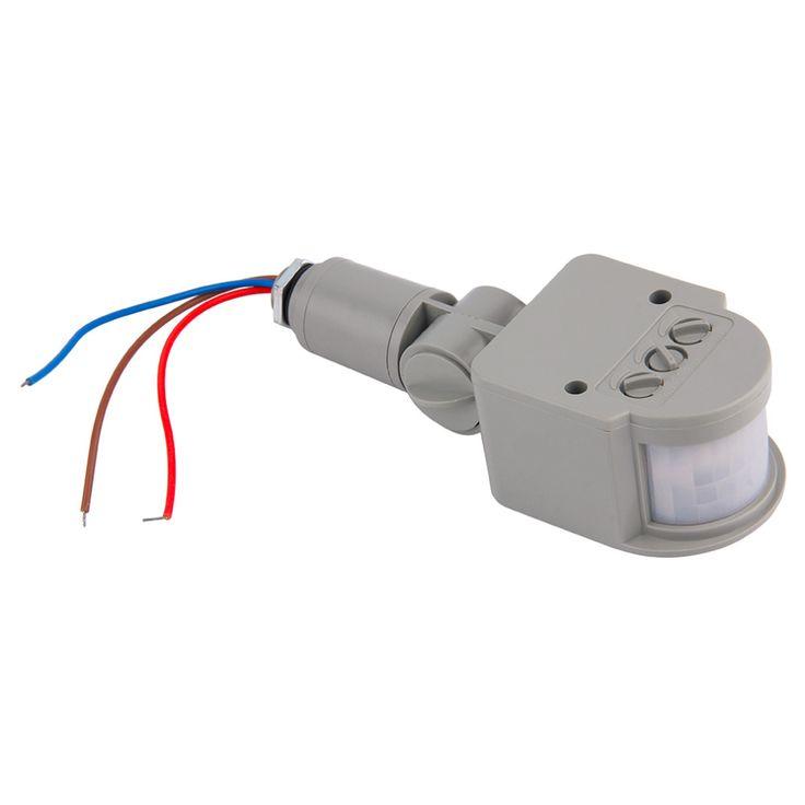 1 pc baru motion sensor cahaya beralih luar ac 220 v otomatis inframerah pir motion sensor beralih untuk led light