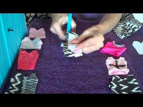 How to make Barbie Doll Clothes Singlet - YouTube Nunca se me hubiera ocurrido