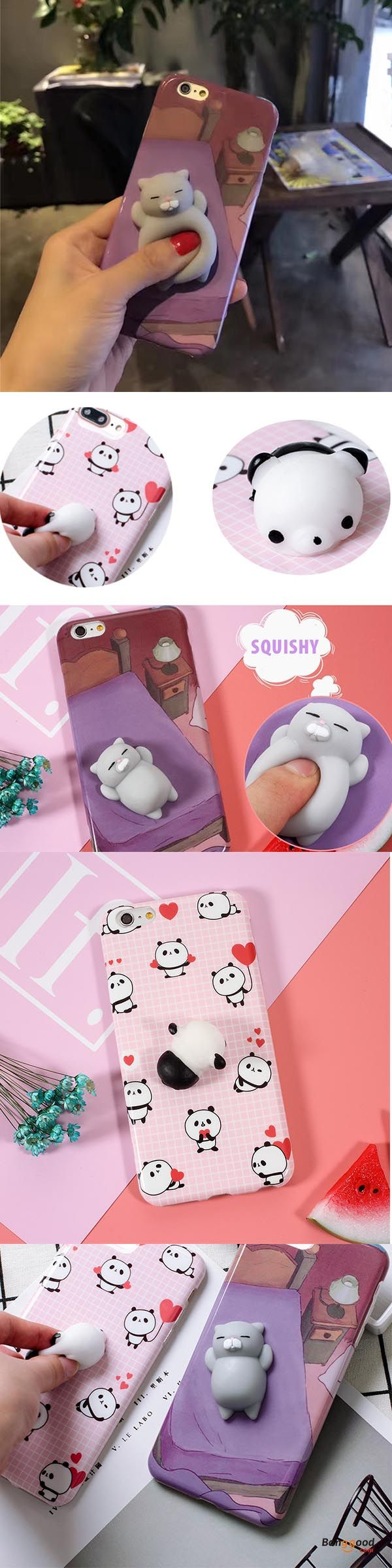 US$7.99 + Free shipping. Bakeey™ Cartoon 3D Squishy Squeeze Slow Rising Cat Panda Soft TPU Case for iPhone 6 6s& 6Plus 6sPlus. Shockproof, Squishy, Cute Soft Animal. Pick one for yourself!