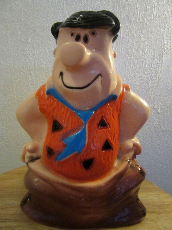 Vintage Fred Flintstone Bank Fred Flintstone Coin by UNBROKENPAST