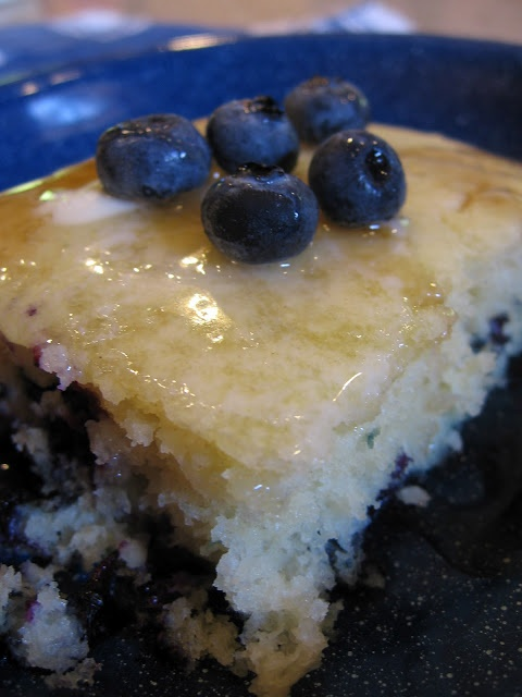 Blueberry Pancake Squares. Try them plain, with different fruits, etc.  Makes cooking for a group easier!