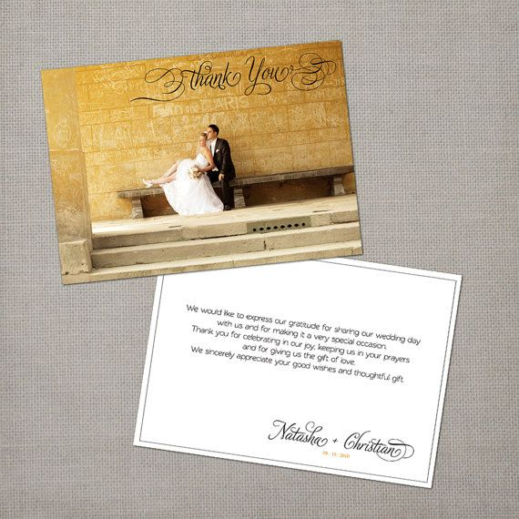 Best Wedding Thank You Cards Images On   Wedding