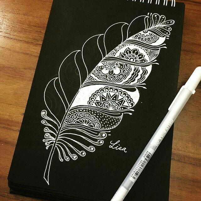 Открытки на картоне черной ручкой