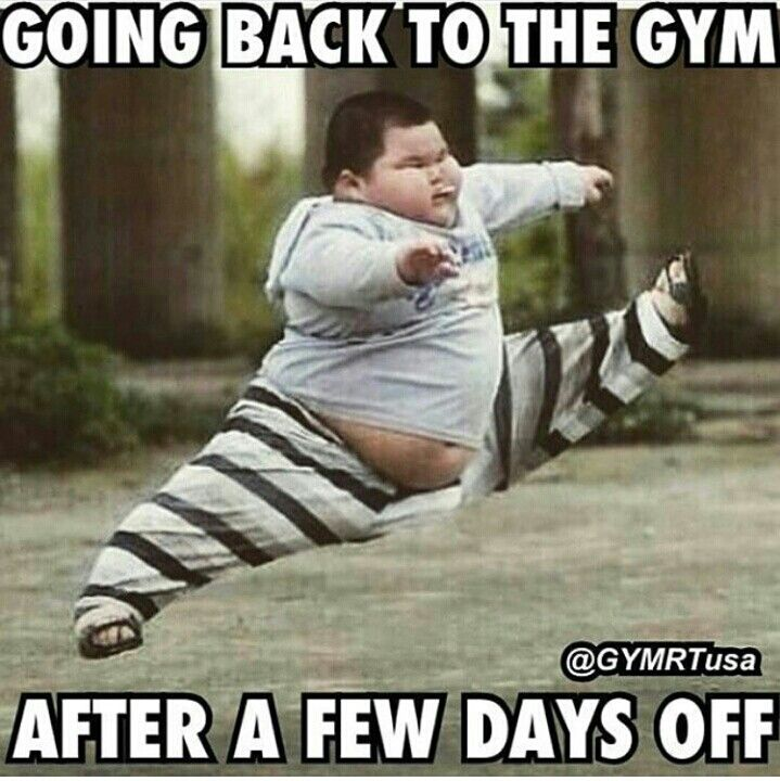LOL, that's why I can't take more than a few days off from working out. I feel so bad afterwards!