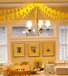 Yellow party theme feature on www.partyfrosting.com