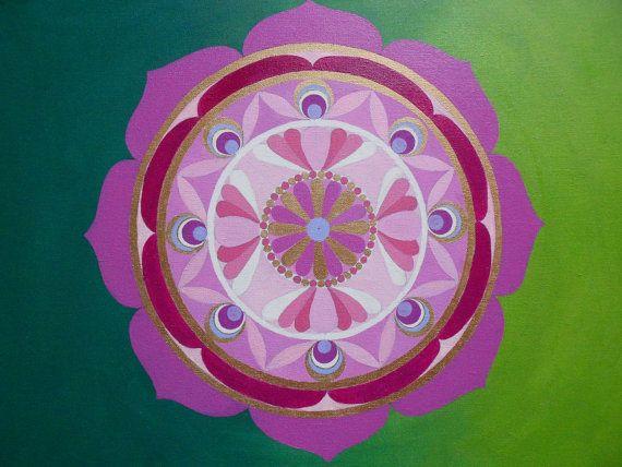 Original Mandala  Lotus flower by Jolene par ForestElvenCreations, £98.00
