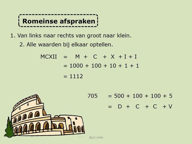 W: Romeinse cijfers by Flip de klas