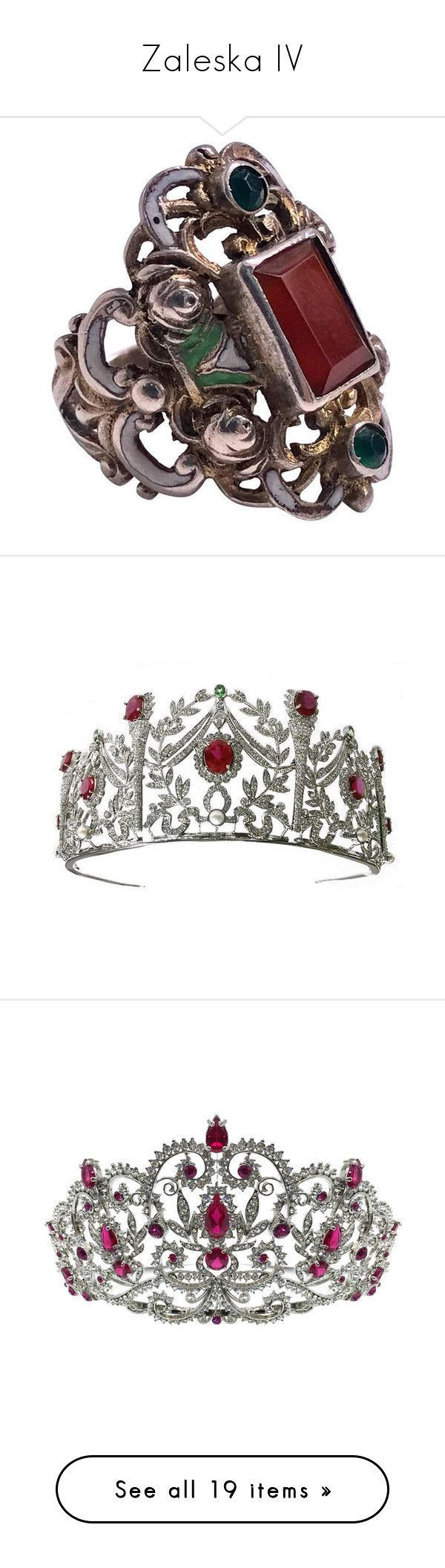 """""""Zaleska IV"""" by shulamithbond on Polyvore featuring jewelry, rings, multiple, silver enamel jewellery, bezel setting ring, enamel jewelry, bezel set ring, silver rings, tiaras and crowns"""
