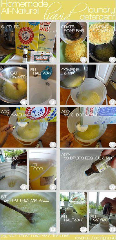 Green Living: Homemade All-Natural Liquid Laundry Detergent