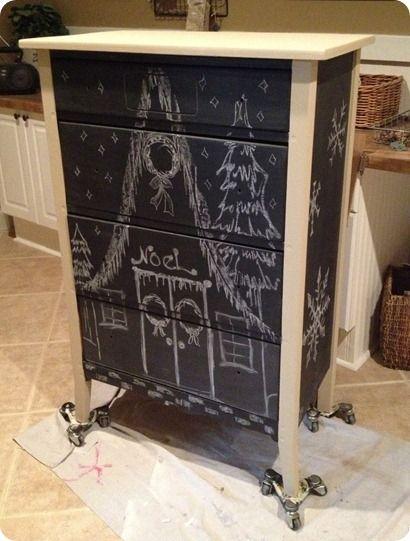 Chalkboard dresser knock from Restoration Hardware Baby & Child