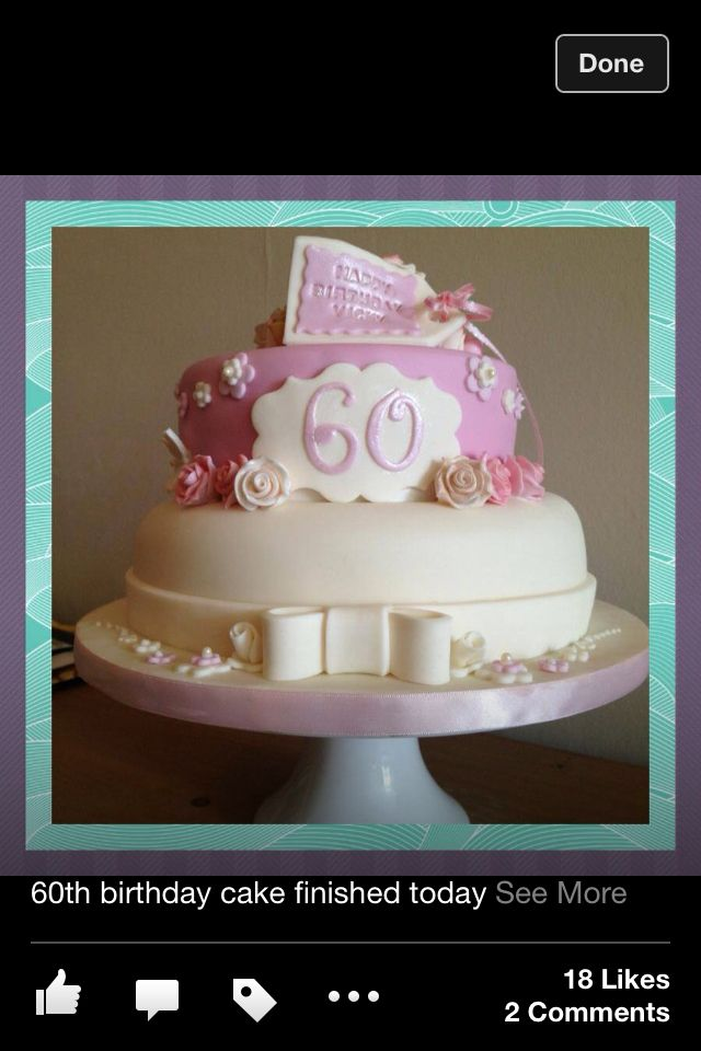 60th birthday cake for her