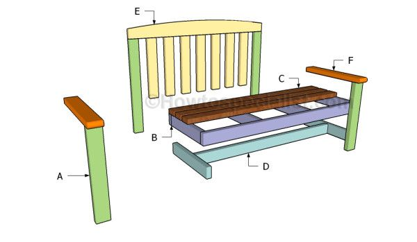 113 best images about free garden bench plans on pinterest for 2x4 furniture plans free
