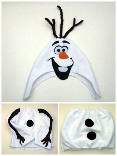 Disfraz de Olaf (Frozen) hecho en casa/ Olaf (Frozen) homemade costume http://mamaenred.com/como-hacer-un-disfraz-de-olaf/