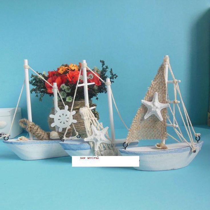 Mediterráneo-Nave-marina-mobiliario-adornos-decorativos-decoración-Náutica-Decoración-Velero