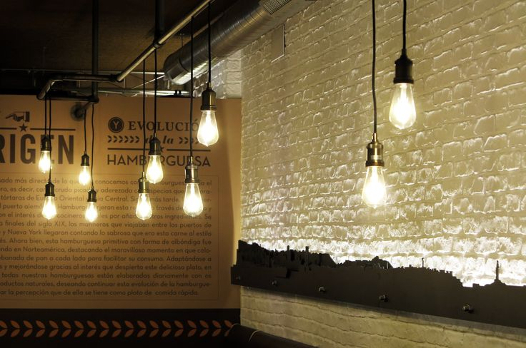 Vintage Lighting a custom made project for #LaPepitaBurguer by LEDS-C4