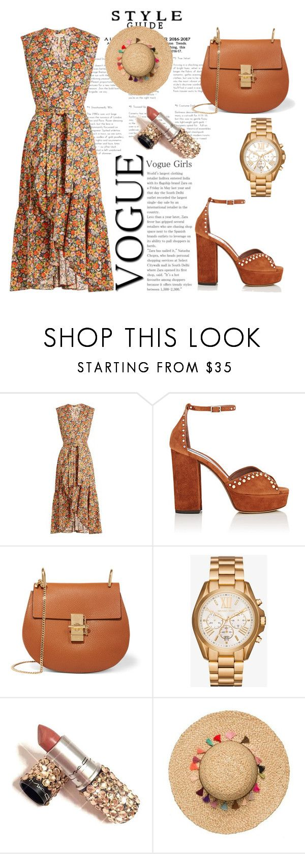 """""""Ma first set💛😉"""" by naynomis-man ❤ liked on Polyvore featuring Rebecca Taylor, Tabitha Simmons, Chloé and Michael Kors"""