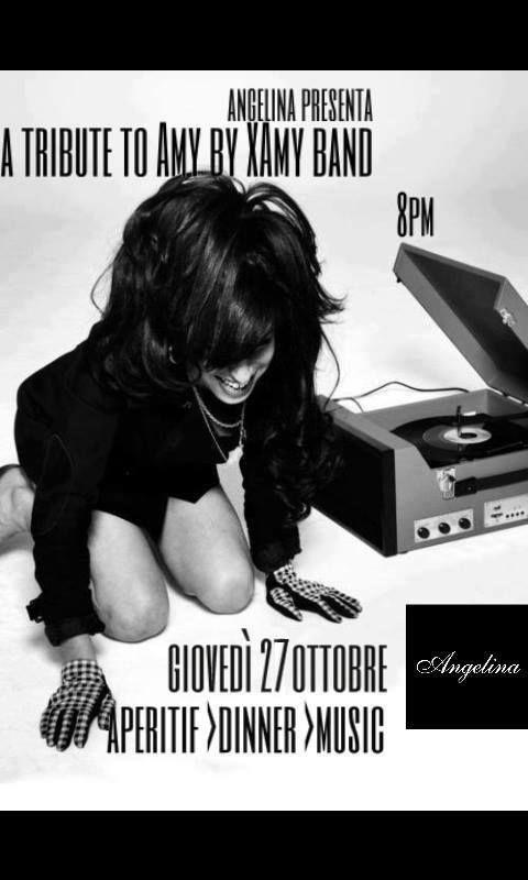 GIOVEDI 27 OTTOBRE H 20,00 APERITIVO CENA MUSICA APERITIF DINNER MUSIC  #cocktail #music #dinner #AMY #XAMYBAND #roma #rome #angelina