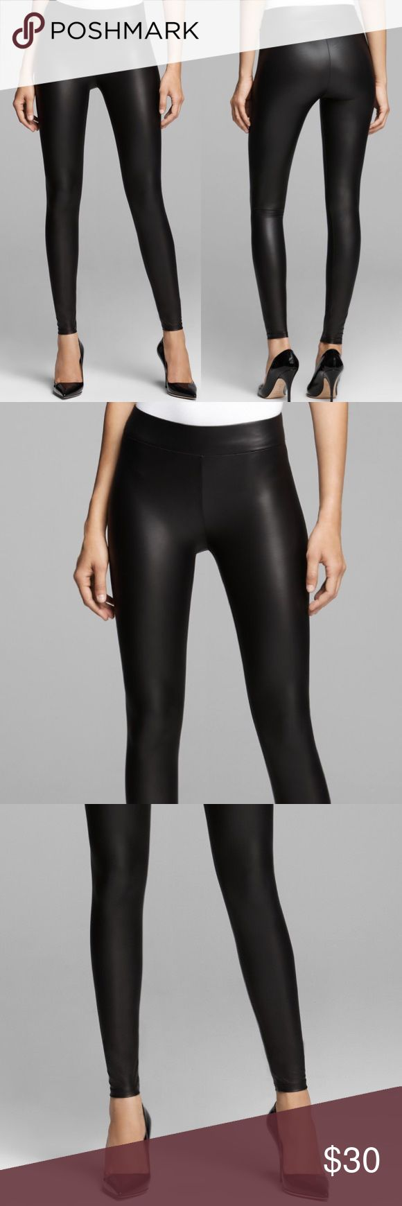 50% OFF ‼️ NWT Guess Matte Wet Leggings, Jet Black These leggings are to die for. I am so in love with these but sadly they do not fit me (if anyone has a small or medium let me know ;) Instantly give any look a rocker edge with these smooth faux-leather leggings. They stretch and move with you, and the wide elastic waistband gives you a flattering fit. Guess Pants Leggings
