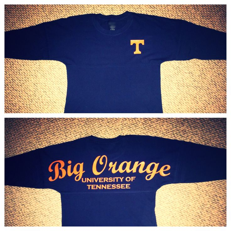 Big orange spirit jersey I made myself:) Tennessee Vols shirt