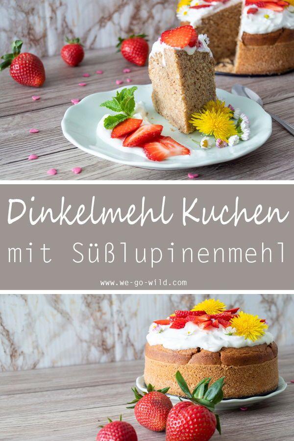 Lupinenmehl Kuchen Mit Erdbeeren Rezept Gesunde Desserts Mit