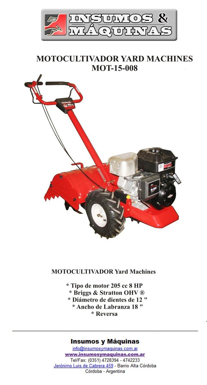 Cultivador | Motocultivador Yard Machine |  Yard Machine