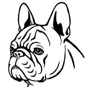 frenchie outline - Google Search