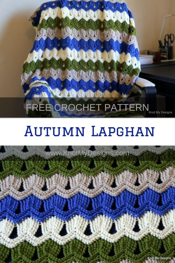 Free Crochet Pattern Home Decor Blanket Autumn Lapghan Throw