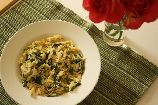 orzo recipe- orzo with peas and spinach | Food yum | Pinterest