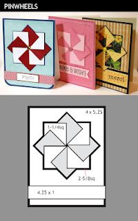 Pinwheel - Using scraps This is such a great idea for organizing your paper scraps if you are into card making, like me.